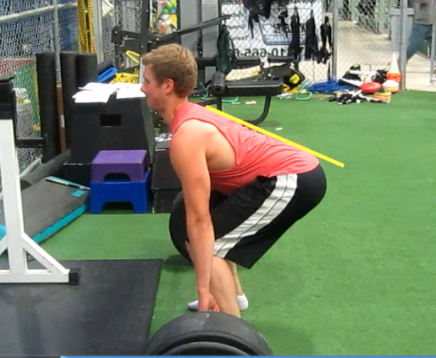 Much flatter lower back here = better deadlift