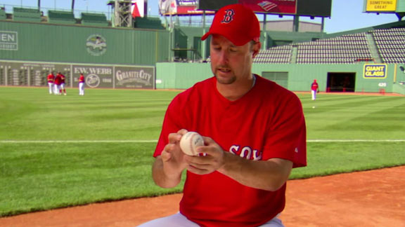 """...so you just hold it like this and then throw at as hard as you can at your throwing partner without warning. It's hilarious."""