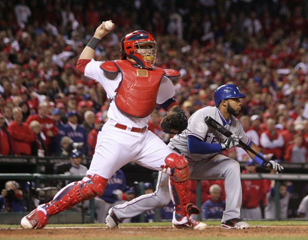Yadier Molina Catching 2013 Developing Overhand Ve...