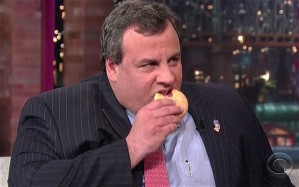 "Chris Christie's main exercise every day would be ""Donut Throws Into Trashcan"""