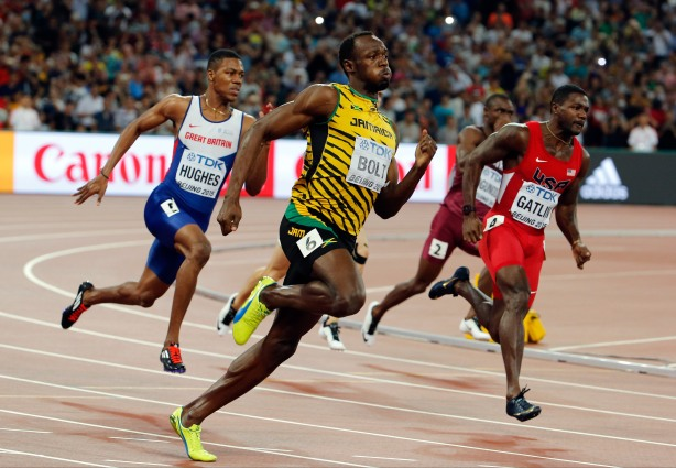 bolt sprint run olympics jamaica